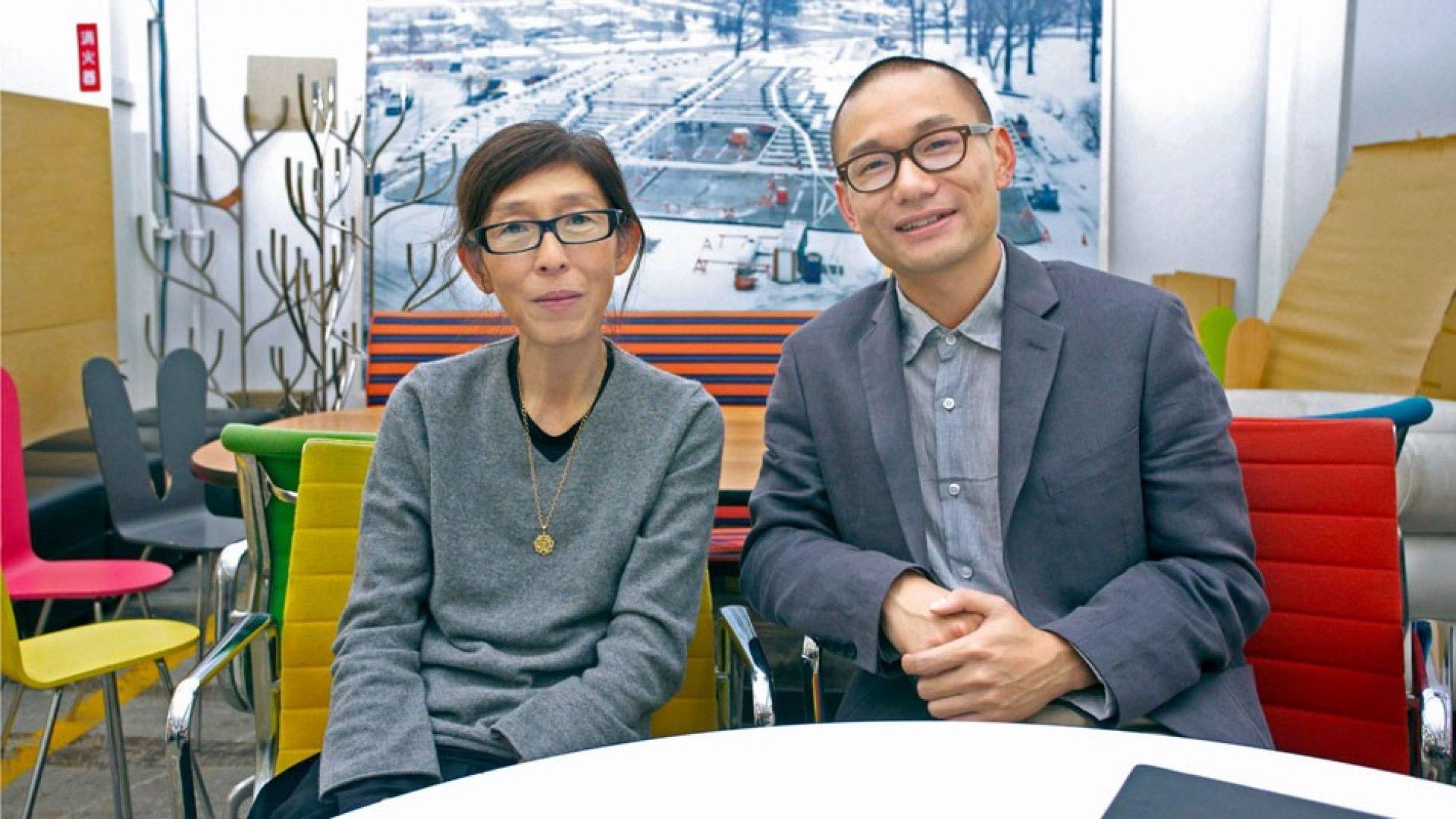 Kazuyo Sejima mentor and Yang Zhao protégé. Tokyo, Japan, 2012. Photography.- Rolex / Hideki Shiozawa.
