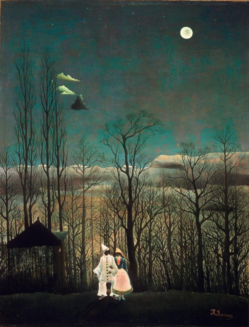 Henri Rousseau, Tarde de carnaval, Carnival Evening, Óleo sobre lienso. 117,3x 89,5cm. Philadelphia Museum of Art.The Louis E. Stern Coleection, 1963.