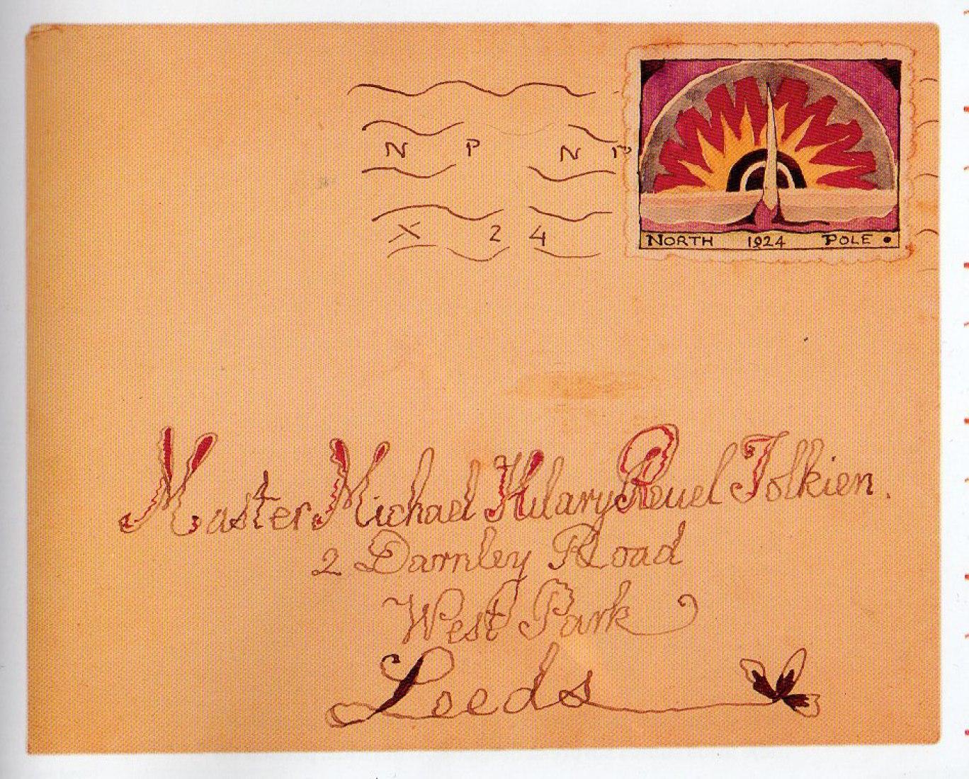 """Sobre con sello postal del Polo Norte, Diciembre 1924. En: """"Cartas de Papá Noel"""". El Aleph Editores"""