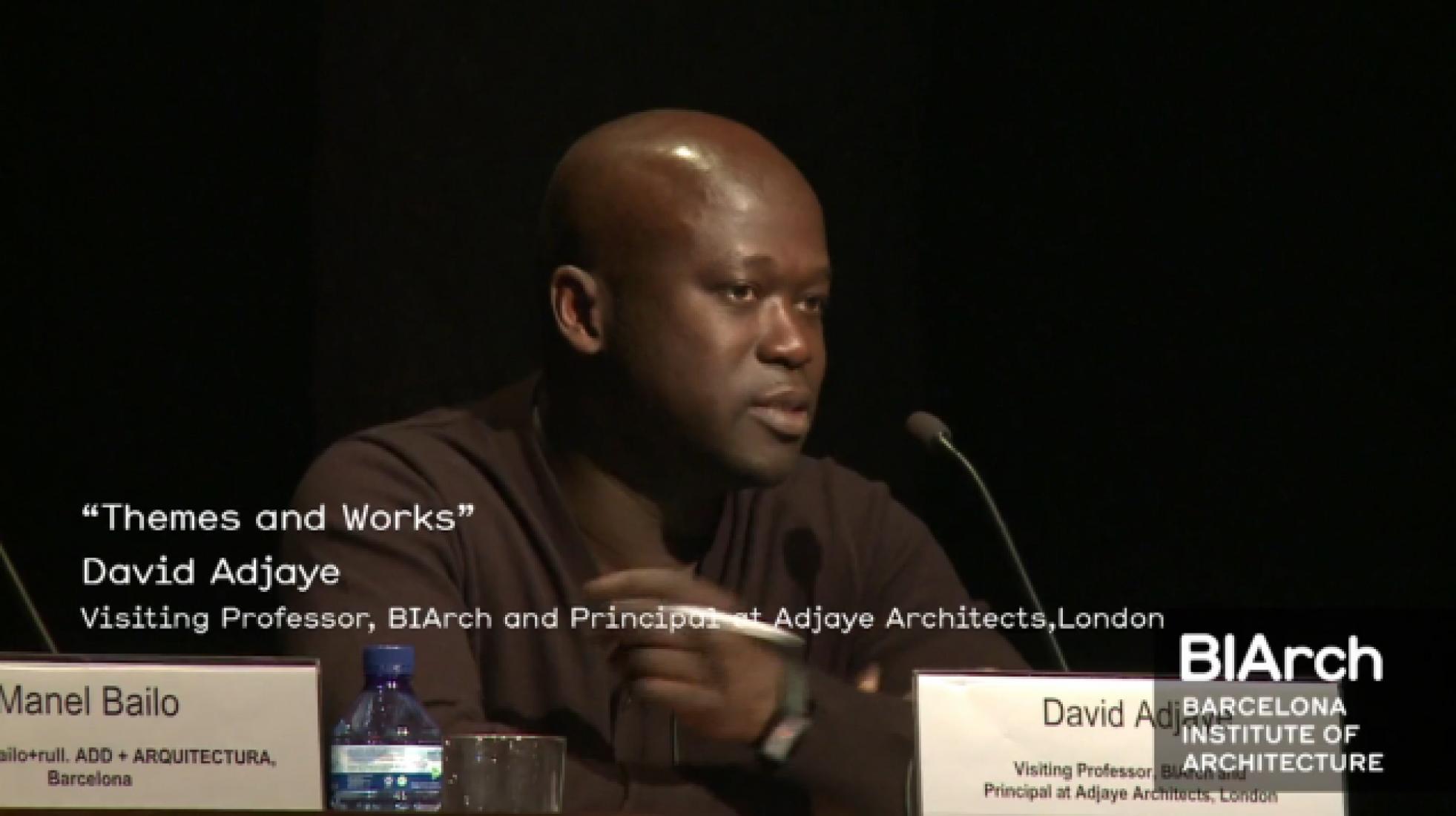 David Adjaye. Corte de vídeo.