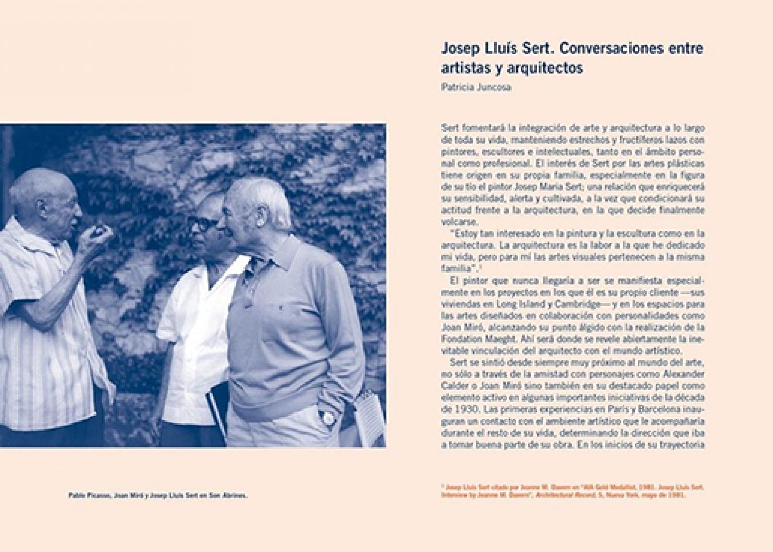 Páginas interiores. Josep Lluis Sert. Conversaciones y escritos