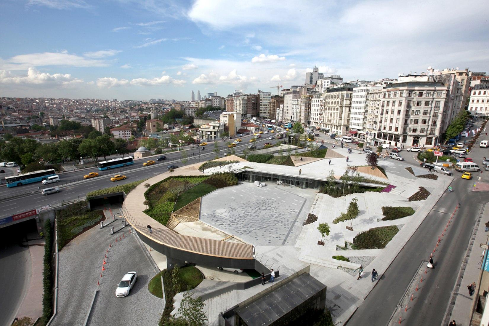 Vista general. Parque Şişhane, Estambul, por SANALarc. Fotografía © SANAL architecture | urbanism