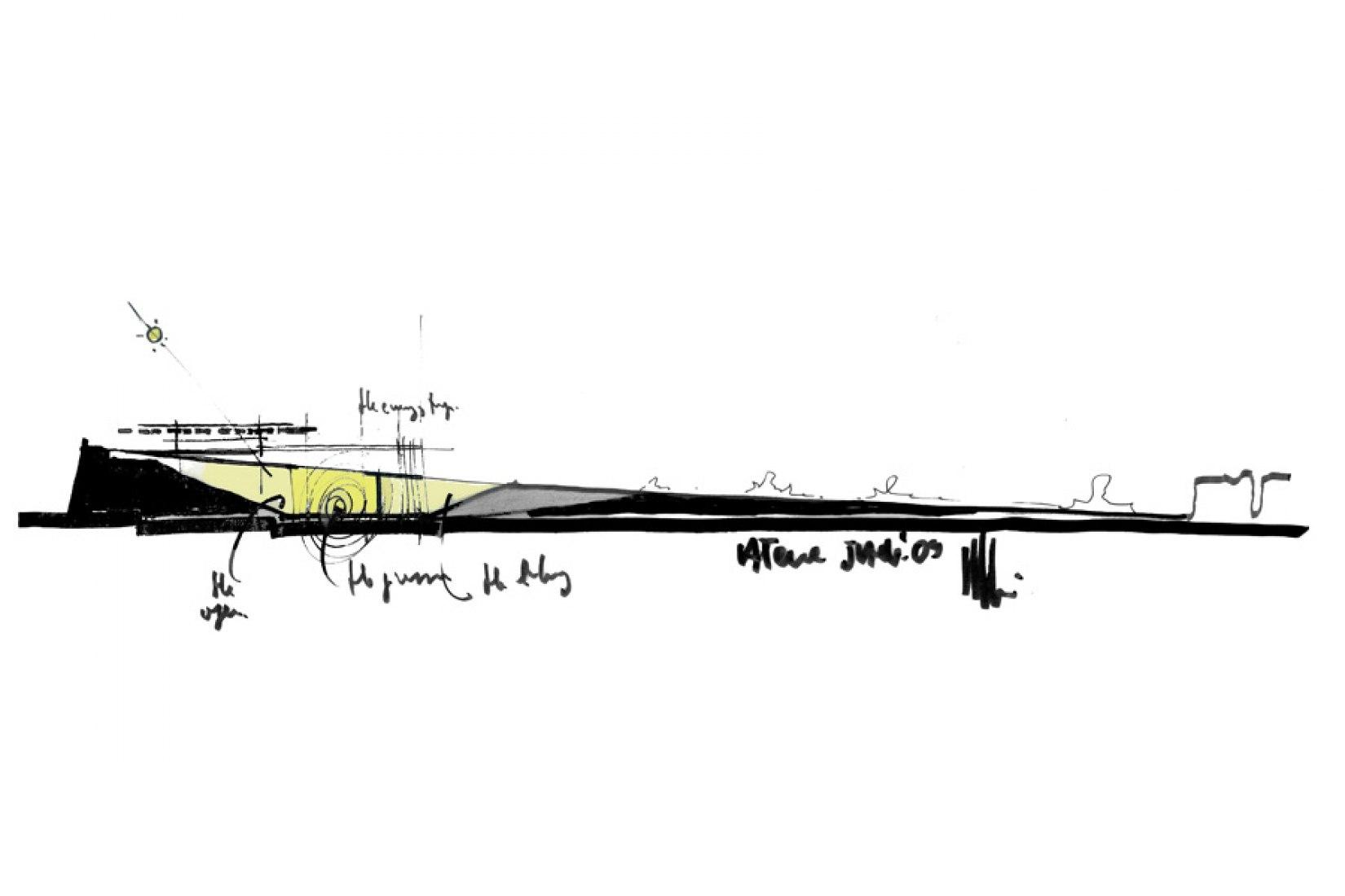 Renzo Piano sketch. © RPBW