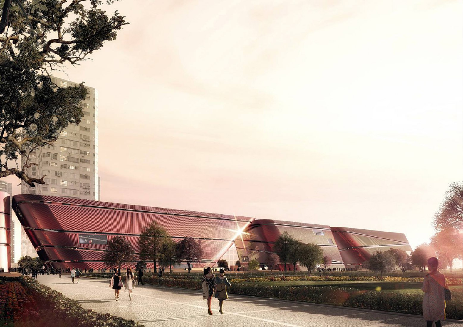 Three Cultural Centers & One Book Mall in Shenzhen, China by Mecanoo. Image courtesy of Mecanoo.
