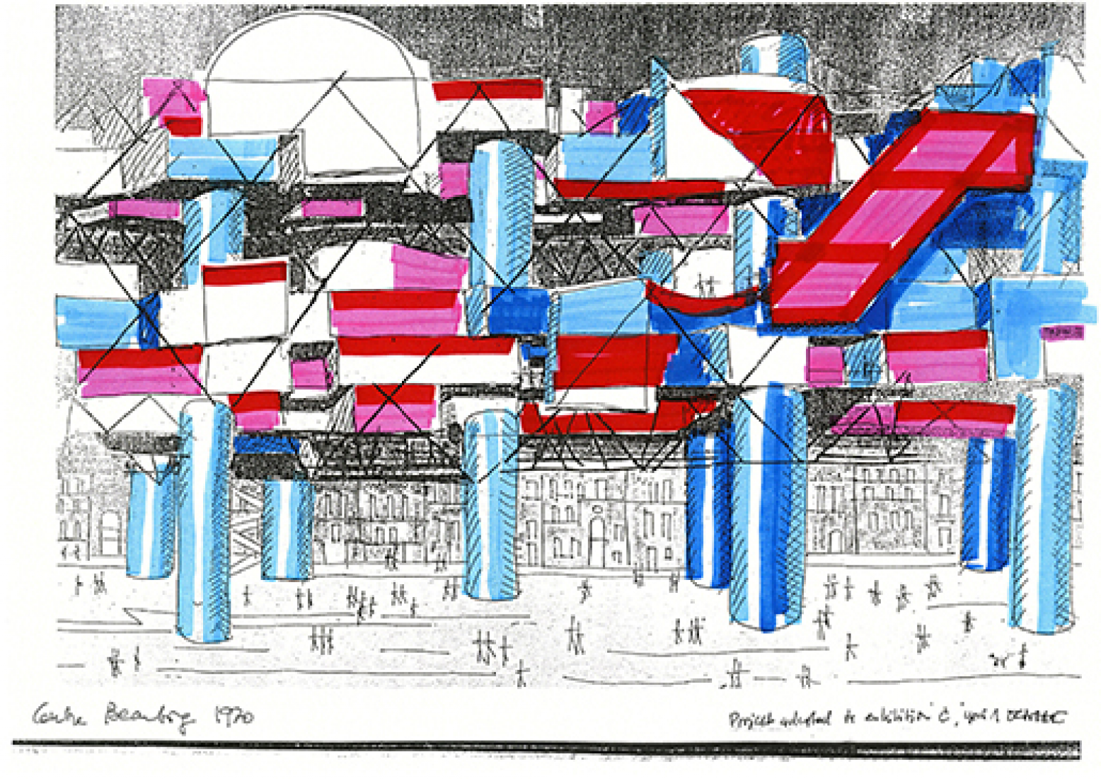 Yona Friedman Pompidou Center, Paris, 1970 © Yona Friedman
