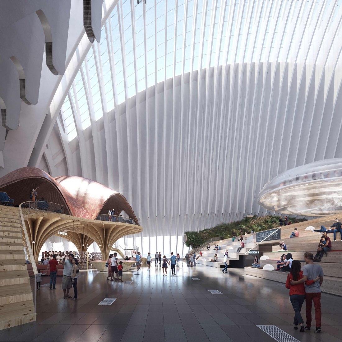 Interior rendering. New CaixaForum of Valencia by Ruiz-Geli. Image courtesy of Caixa Forum