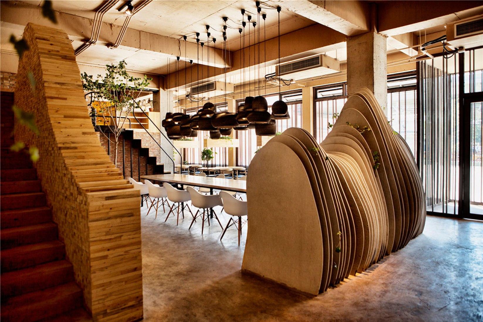 Vista interior. Ban Shan Café por Robot3 Design. Fotografía © Xi-Xun Deng.