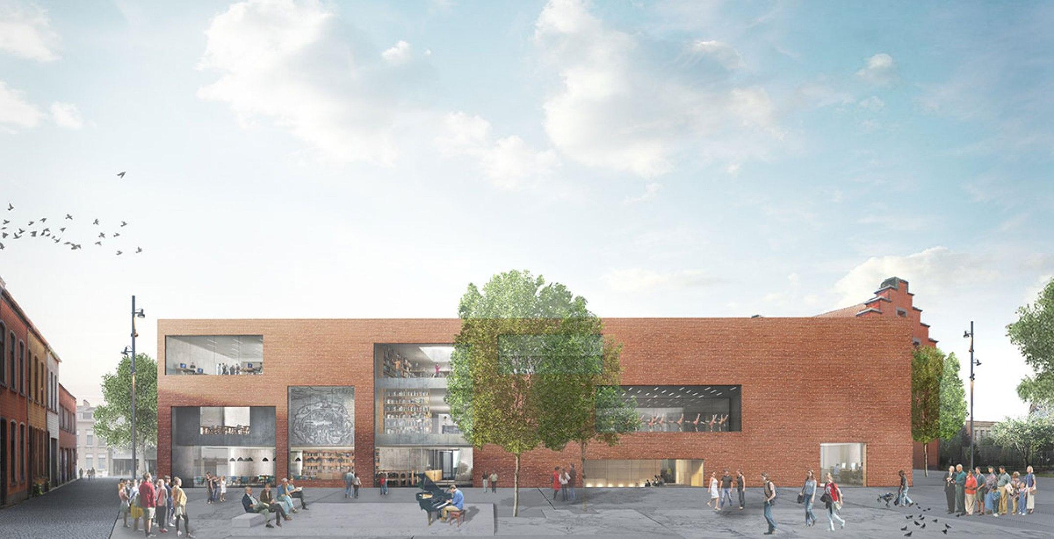 Biblioteca y Centro Artístico en Aalst por KAAN. Fotografía © EdiT, KAAN Architecten.