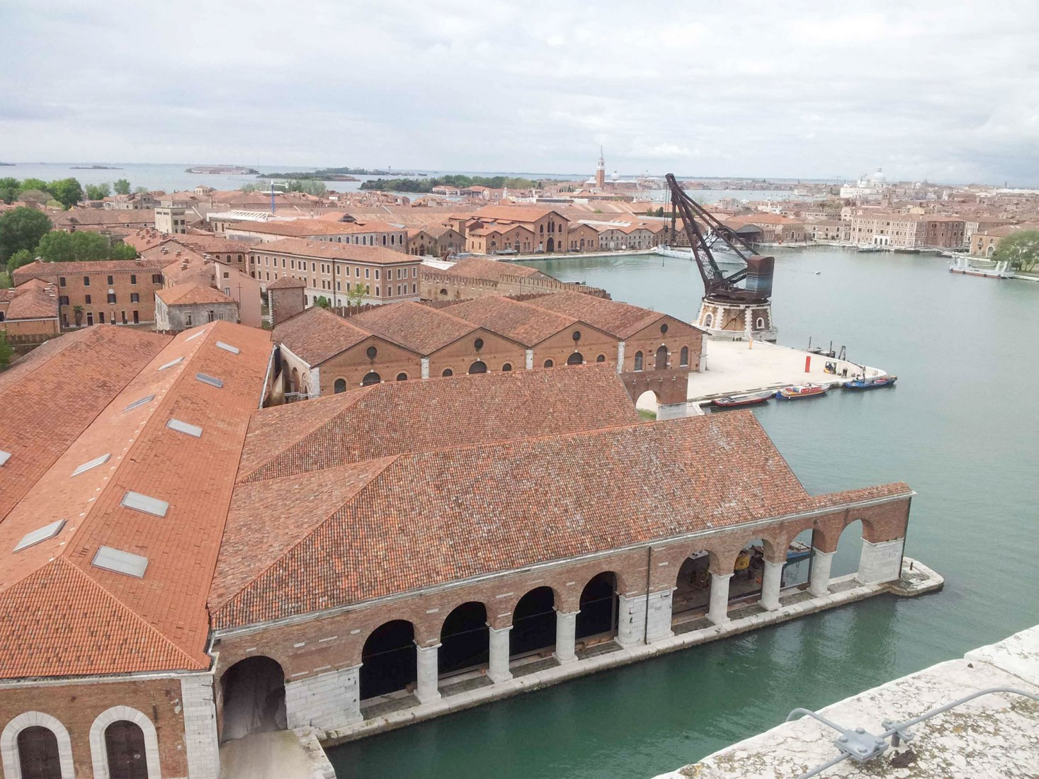 Aerial view of Arsenale. Photography © Andrea Avezzù courtesy of La Biennale di Venezia.