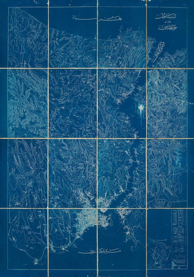 Istanbul Map Blueprint, 1901. Image courtesy of IKSV