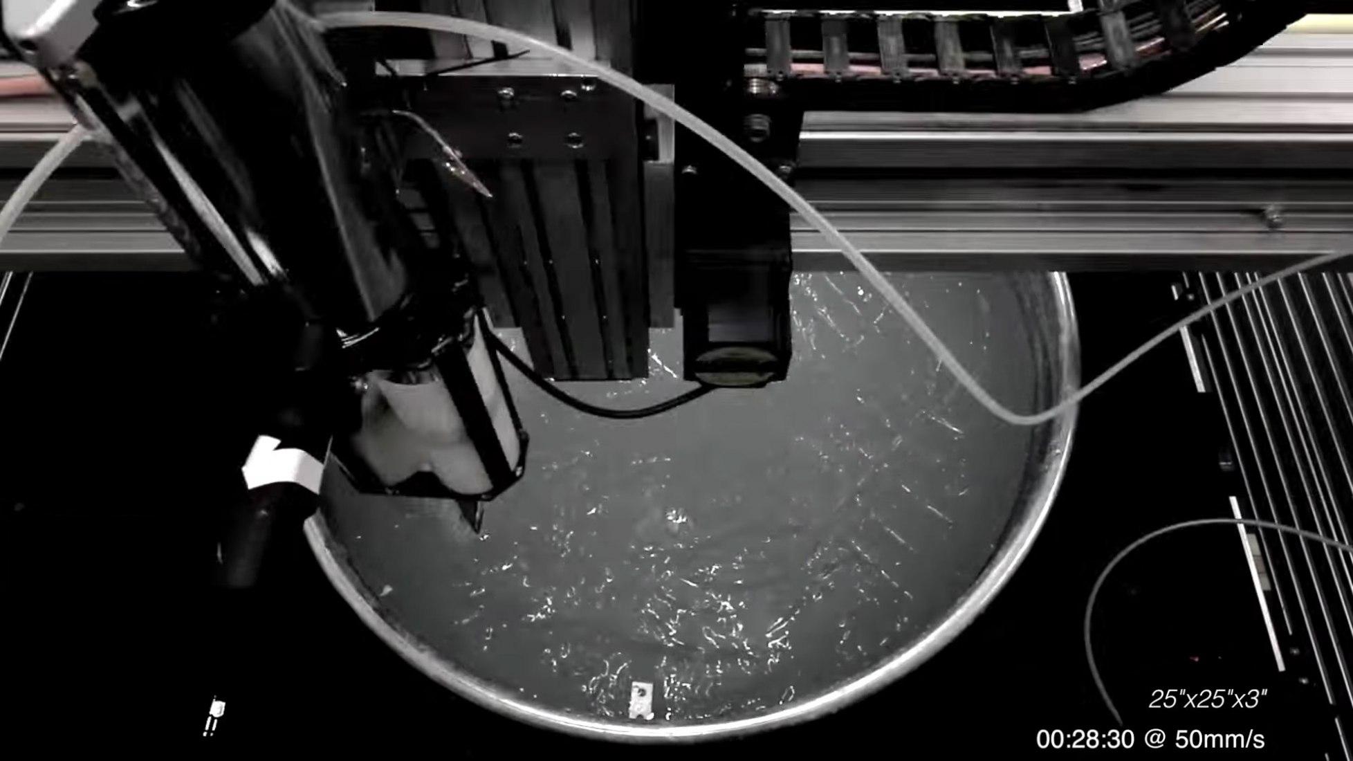 Rapid Liquid Printing por Self-Assembly Lab + Christophe Guberan + Steelcase