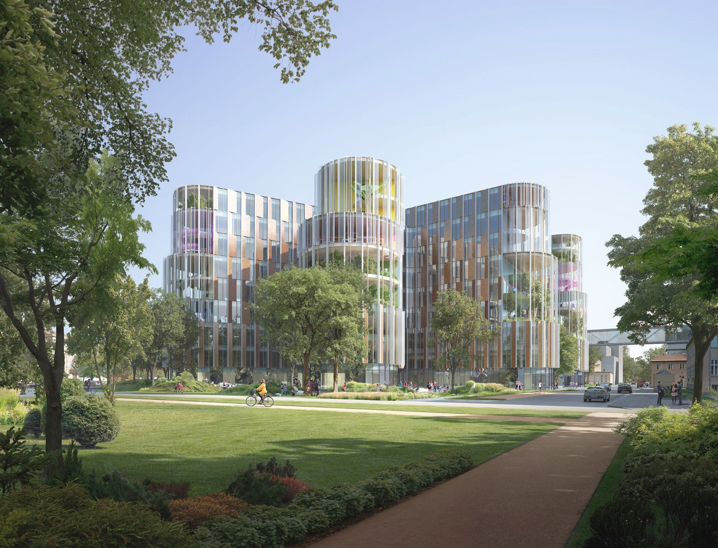 Vista exterior. Nuevo Hospital Nacional de Niños, BørneRiget por 3xn Arkitekter