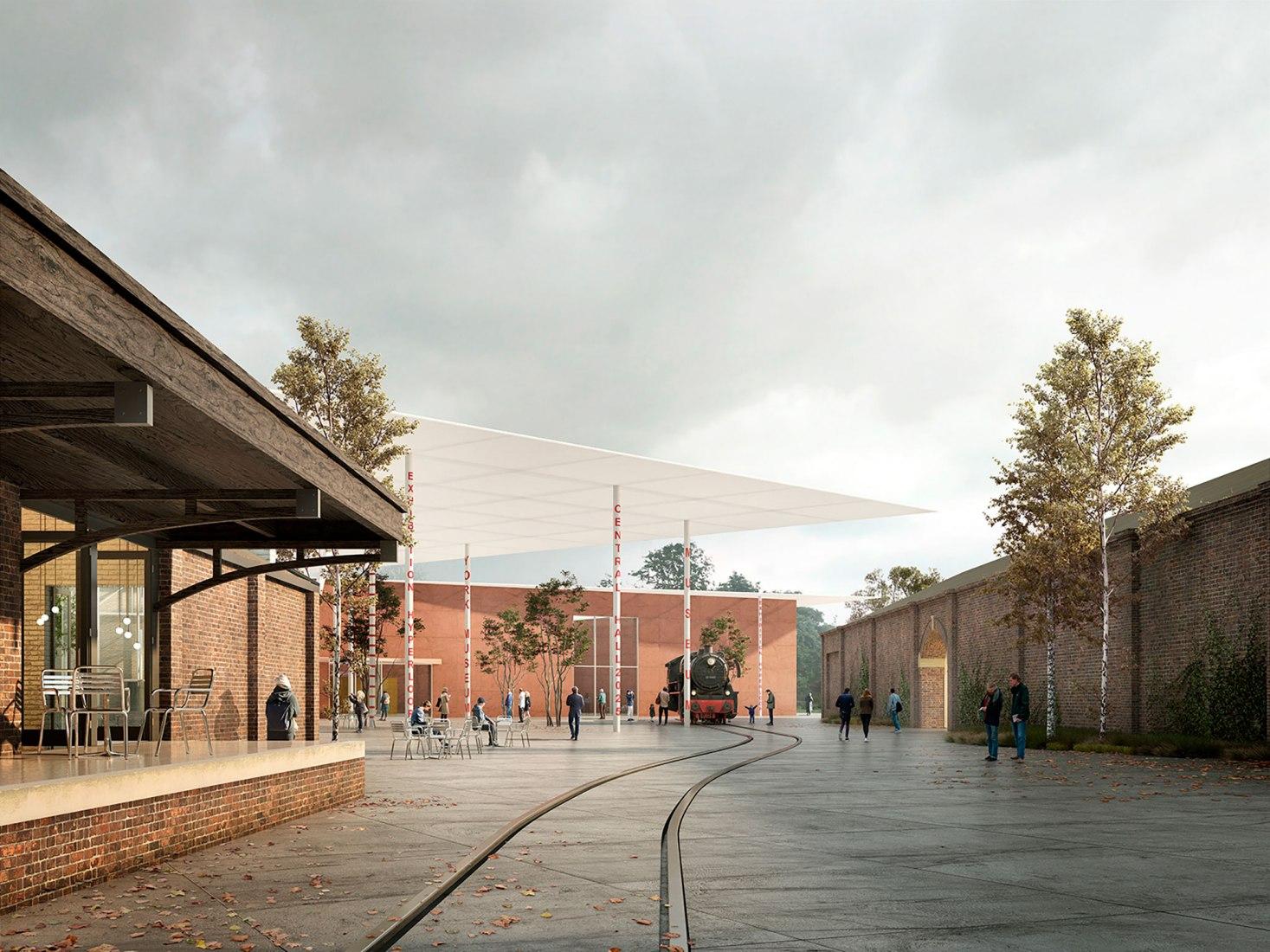 6a arquitectos (Reino Unido) y OFICINA Kersten Geers David Van Severen (Bélgica). Imagen © Malcolm Reading Consultants, 6a arquitectos, OFICINA Kersten Geers David Van Severen.