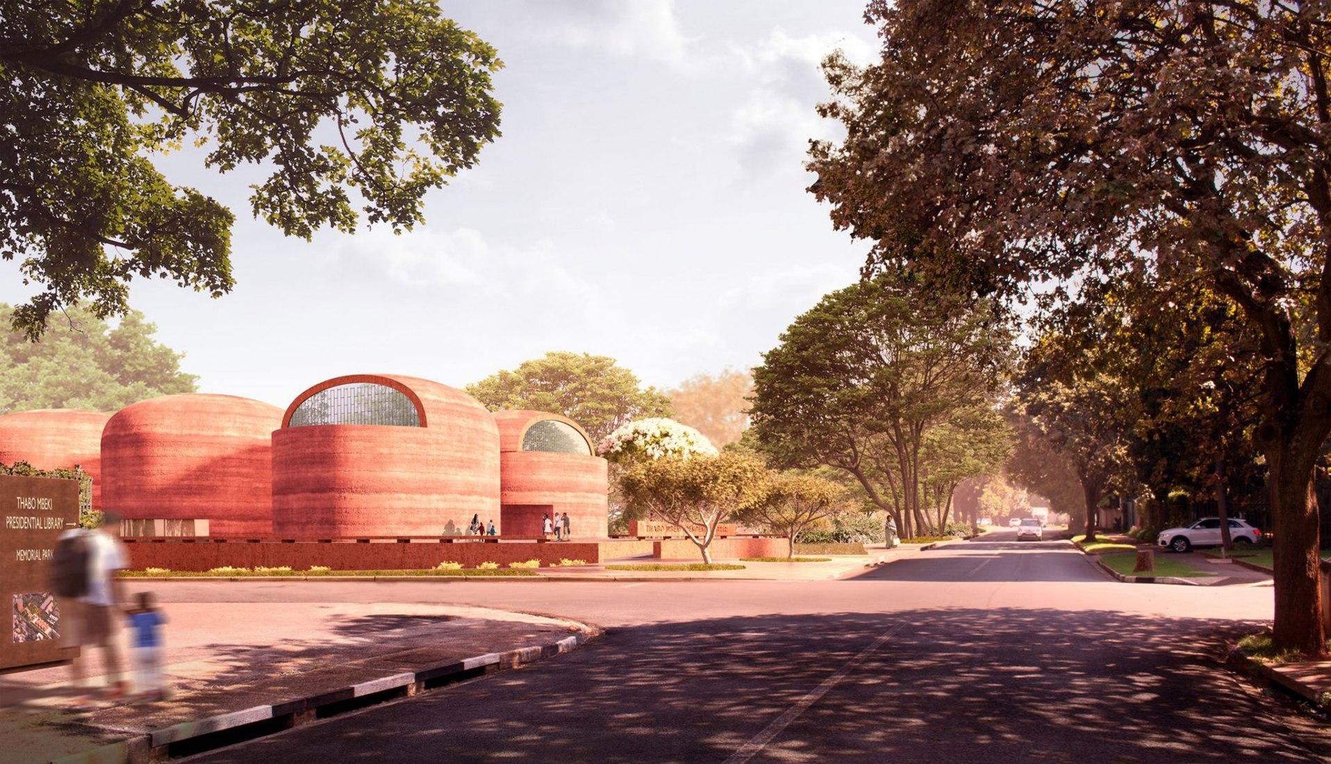 Visualización. Biblioteca Presidencial Thabo Mbeki en Johannesburgo por Adjaye Associates