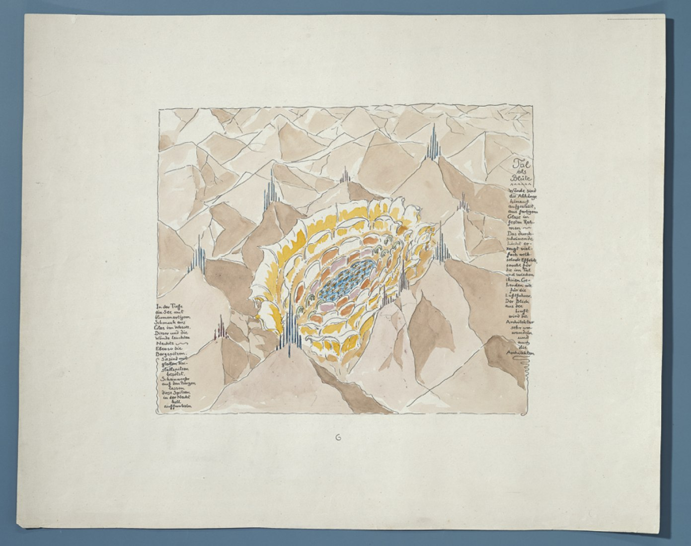 Courtesy of CBA. Alpine architecture, by architect Bruno Taut, c. 1917-1919.