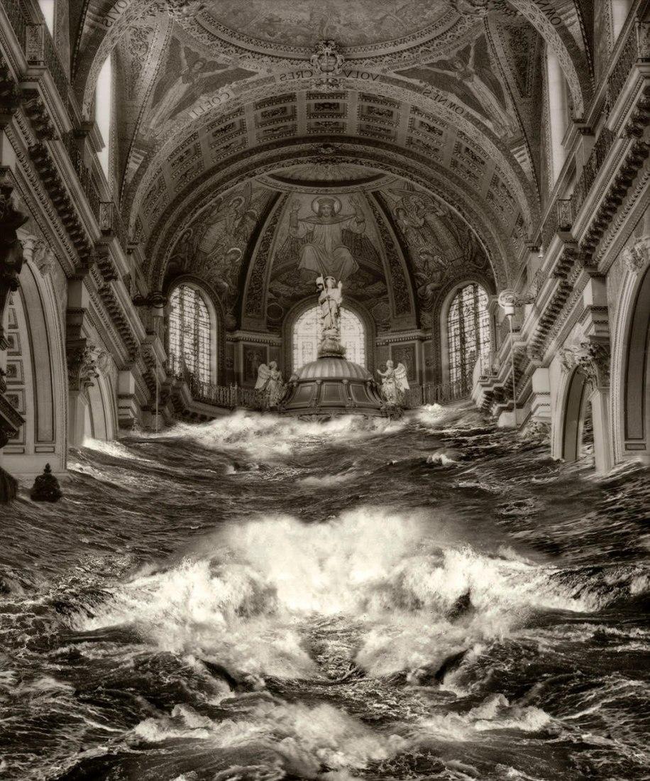 Pablo Genovés. Altar de la serie Tides. 214 x 182 cm. 86.22 x 71.65 pulgadas. Edición de 5