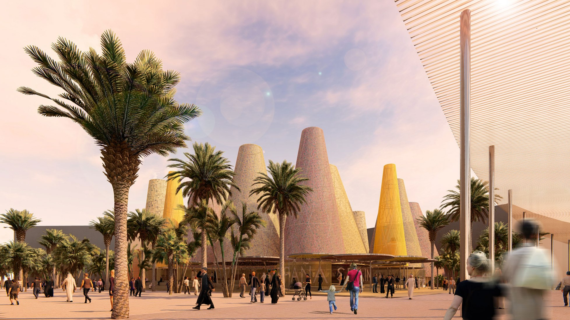 The Amann-Cánovas-Maruri study (Temperaturas Extremas Arquitectos, S.L.P.), winner of the competition called to choose the architecture project of the Spanish Pavilion at the Expo Dubai 2020. Courtesy of Temperaturas Extremas arquitectos, S.L.P.