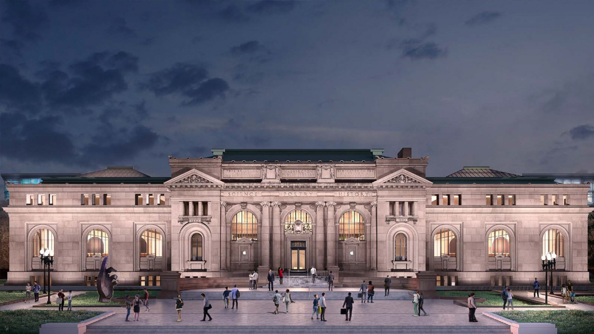 Foster-designed Apple store proposed for historic Carnegie Library in DC