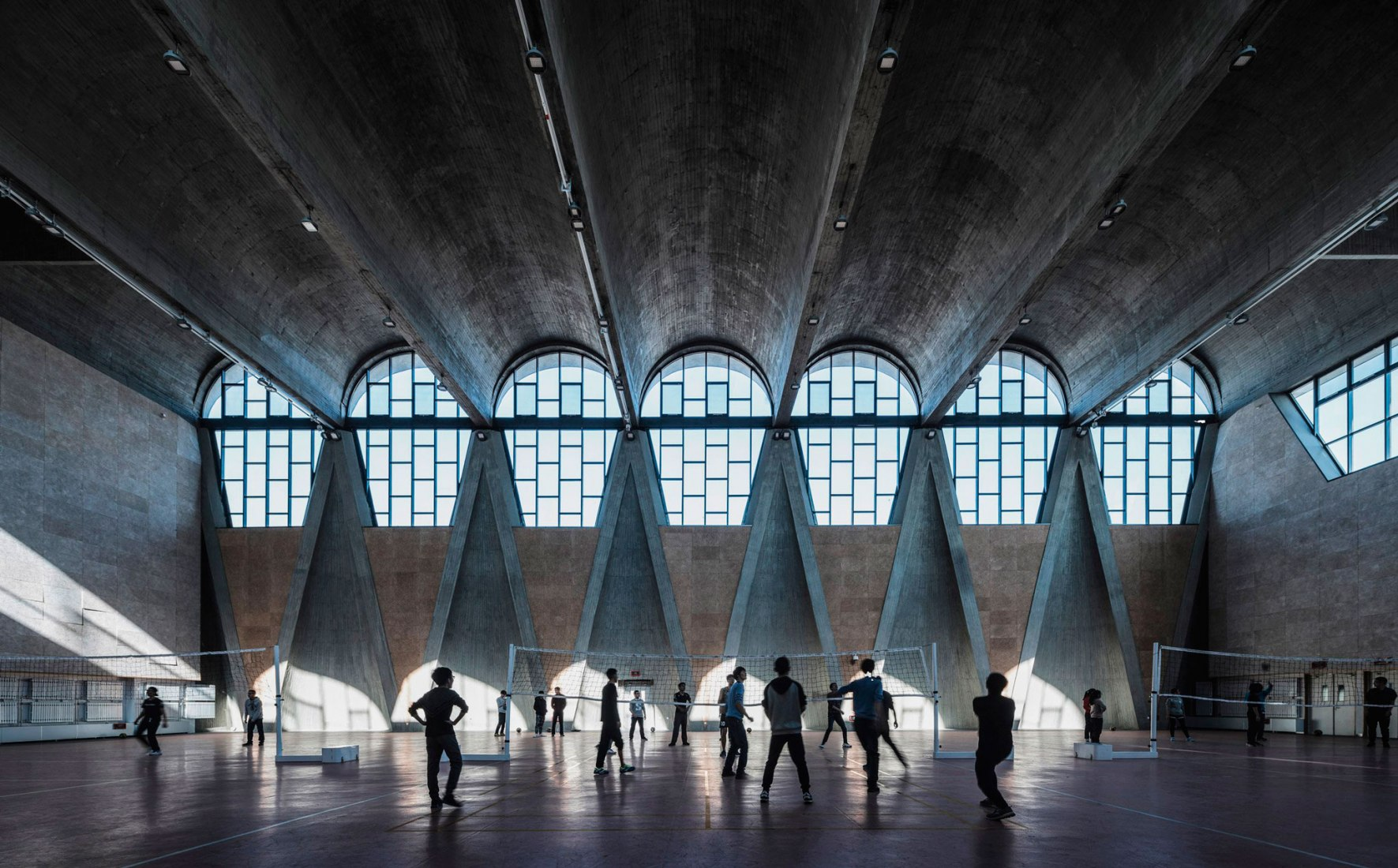 Buildings in use: Gymnasium of the New Campus of Tianjin University, China, by Atelier Li Xinggang, photographed by Terrence Zhang