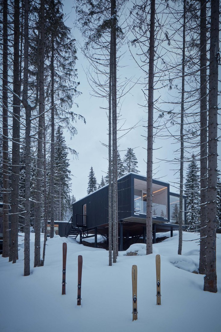 Shelters for Hotel Bjornson by Ark-shelter. Photograph by BoysPlayNice
