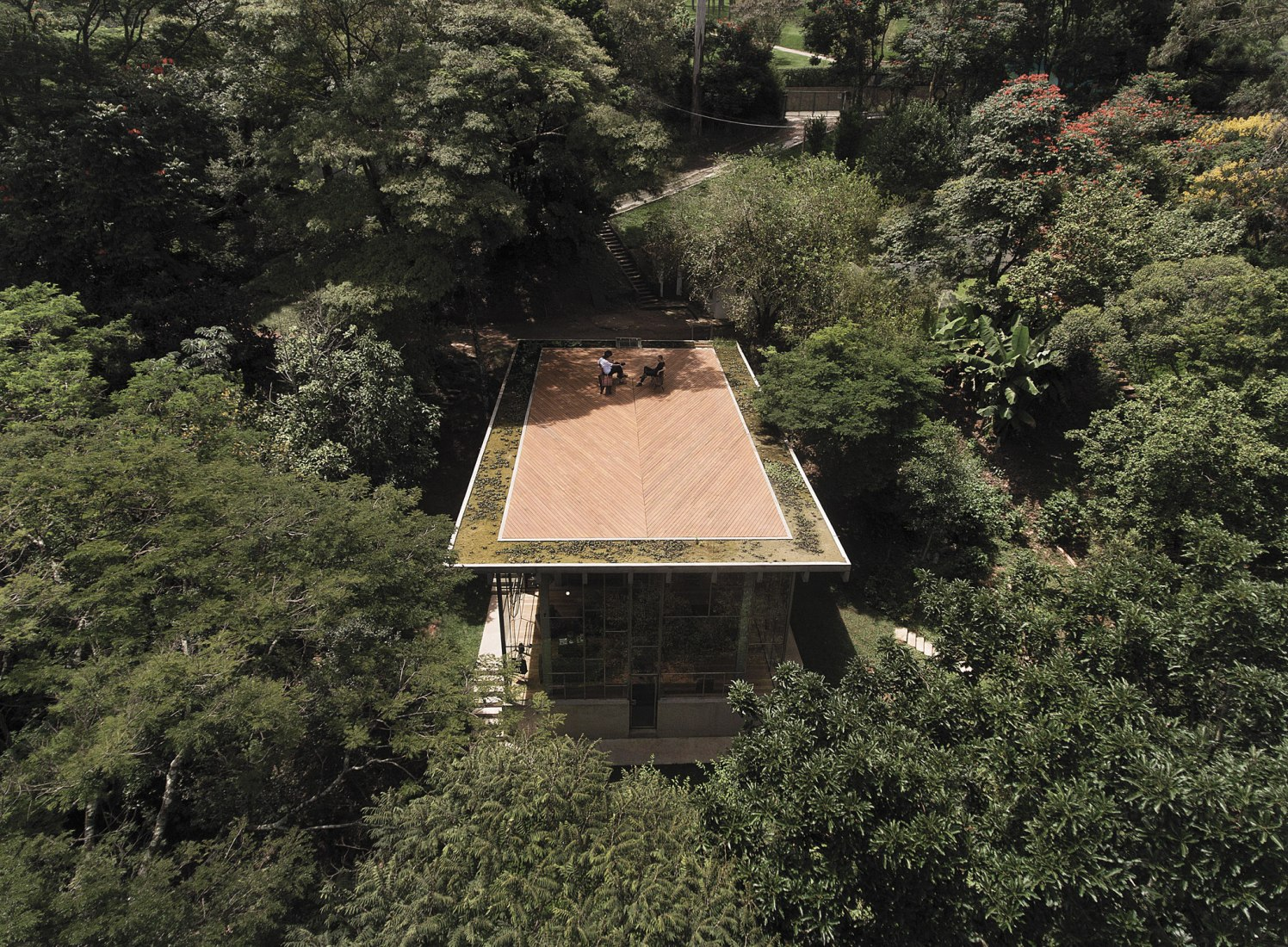 Library house in the vinhedo forest by Atelier Branco. Photograph by Gleeson Paulino.