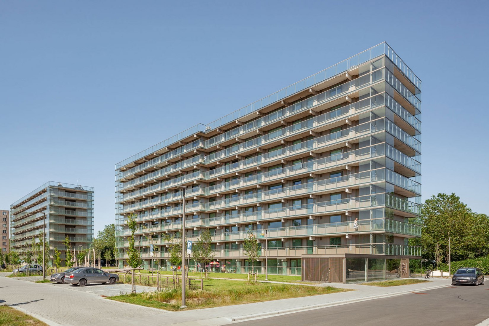 Transformation of the Rozemaai Housing by Atelier Kempe Thill. Photograph by Ulrich Schwarz.