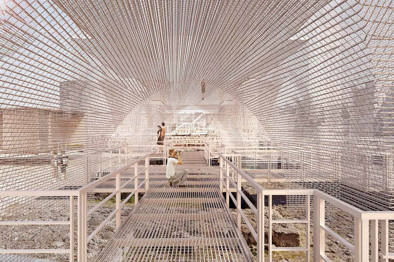 Interior view of the proposal. Castles in the air by AU arquitectos + AJO taller de arquitectura. Image courtesy of AU arquitectos + AJO taller de arquitectura.