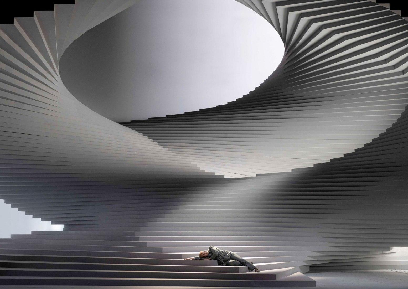 Barkow Leibinger's set for the Fidelio opera in Vienna. Photograph by Monika Rittershaus