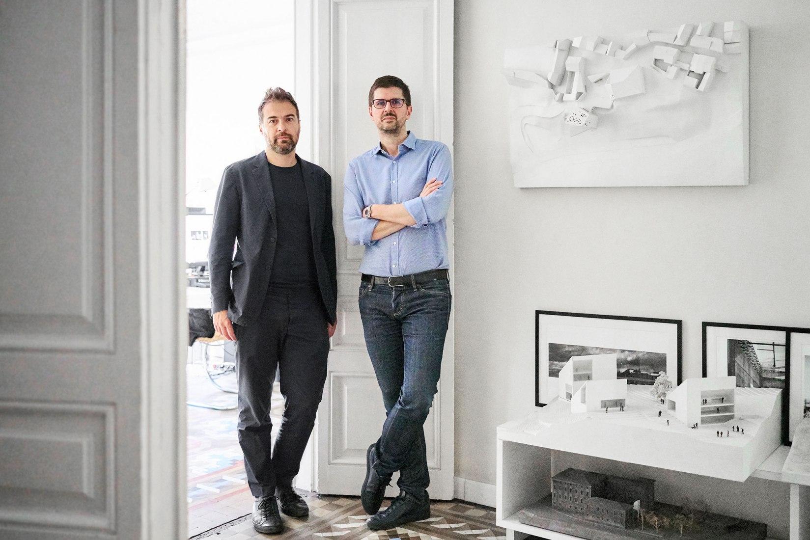 Fabrizio Barozzi and Alberto Veiga of Estudio Barozzi Veiga, 2017. Image courtesy of Estudio Barozzi Veiga