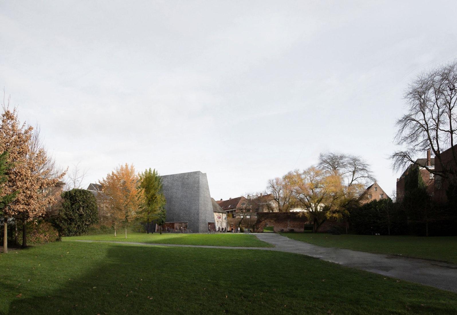 Visualización. Espacio de exposición y arte de la abadía de Groeninge por Barozzi Veiga, Tab Architects y Koplamp Architecten