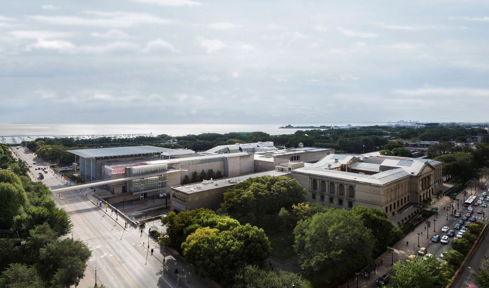 Overview. Art Institute of Chicago. Image courtesy of Barozzi Veiga Architects
