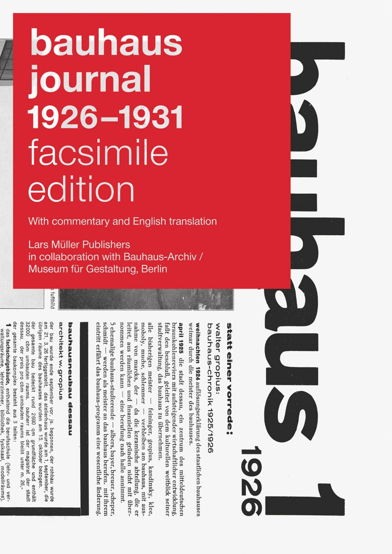 BAUHAUS JOURNAL 1926–1931. Edición facsímil.