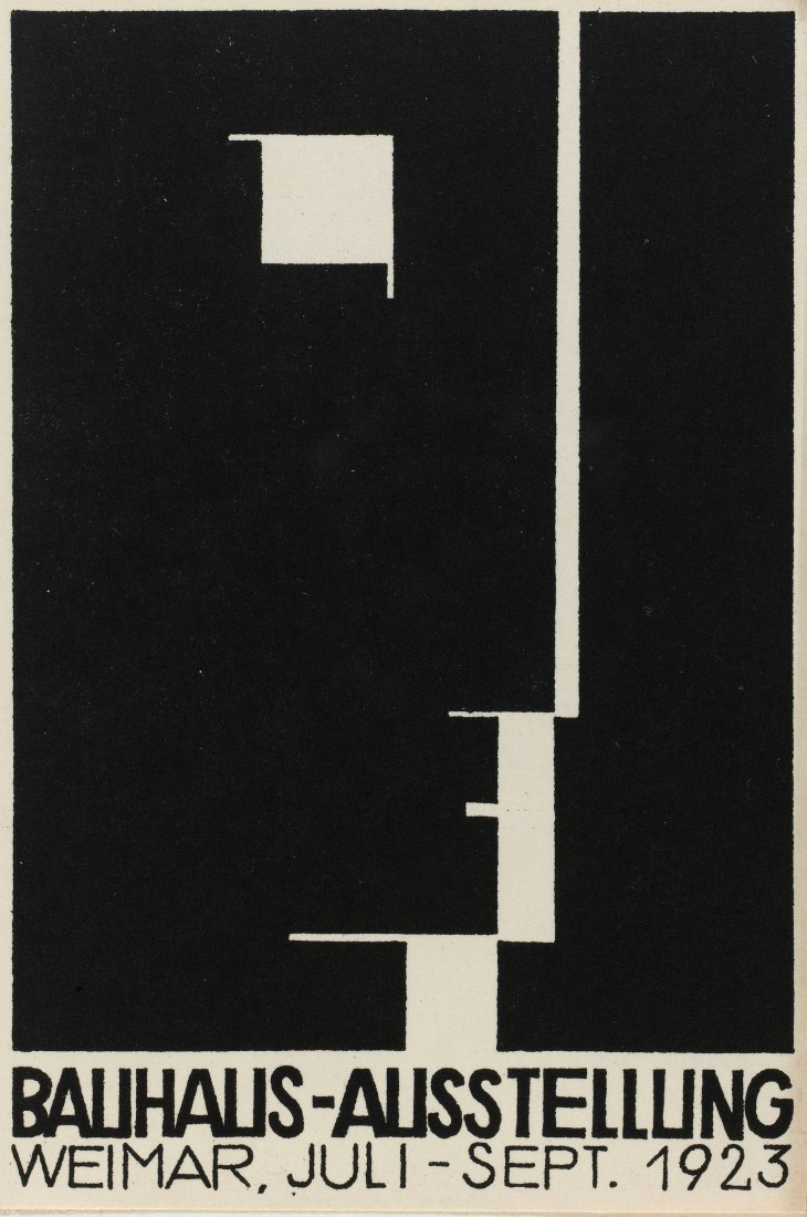 Herbert Bayer, Postcard for the Bauhaus exhibition, 1923 Lithography Photograph © Centre Pompidou, MNAM-CCI, Dist. RMN-Grand Palais