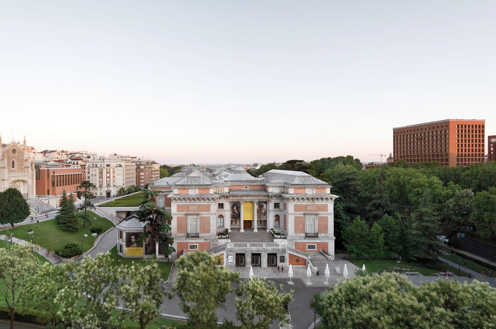 Moneo, Villanueva y Cabrero. Fotografía realizada desde la habitación 516 del Hotel Ritz. Fotografía © Joaquín Berchez. 2017