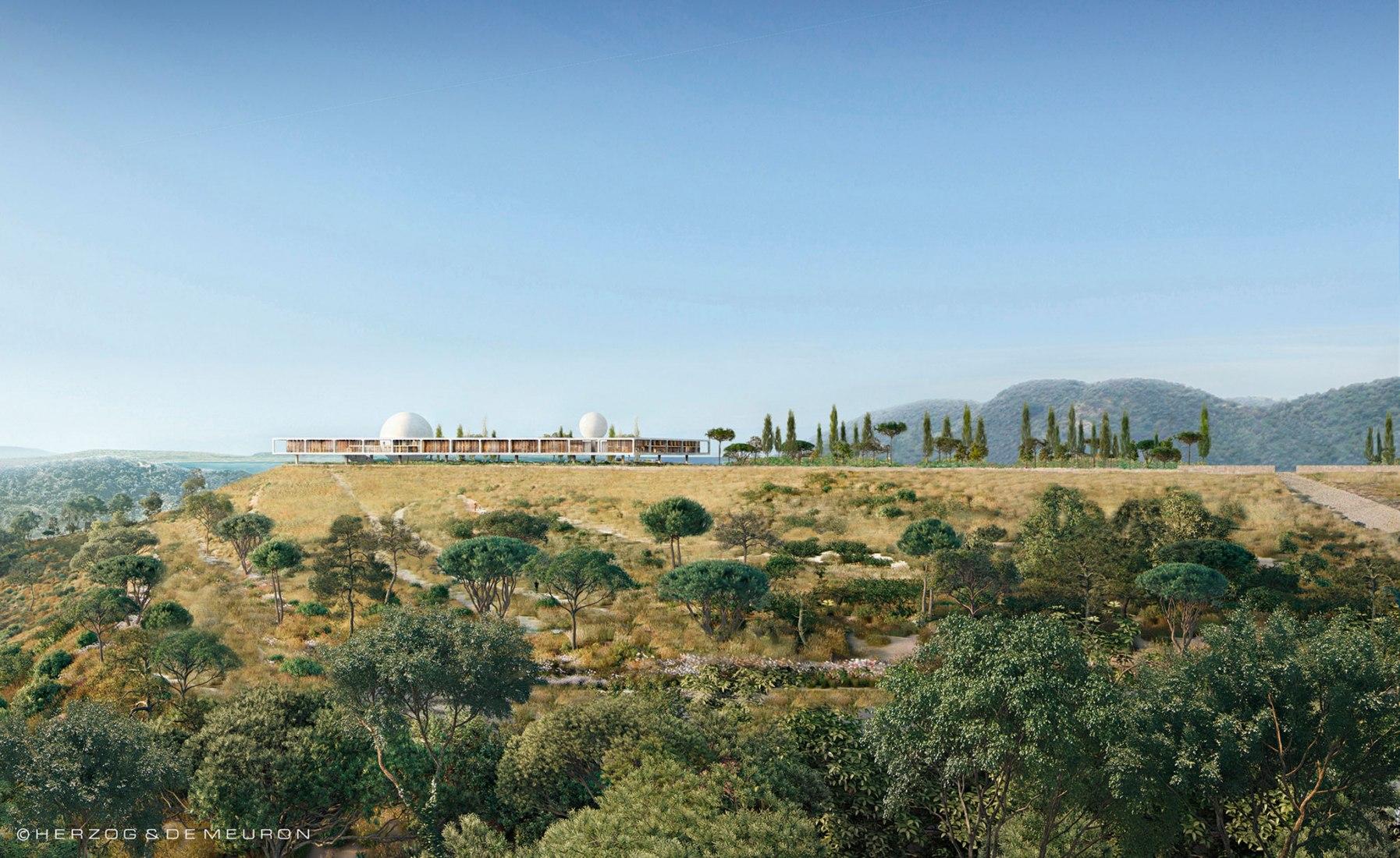 Los arquitectos suizos Herzog y de Meuron han presentado visualizaciones para una nueva sede del Instituto Berggruen en Los Ángeles. Imagen cortesía de Herzog and de Meuron