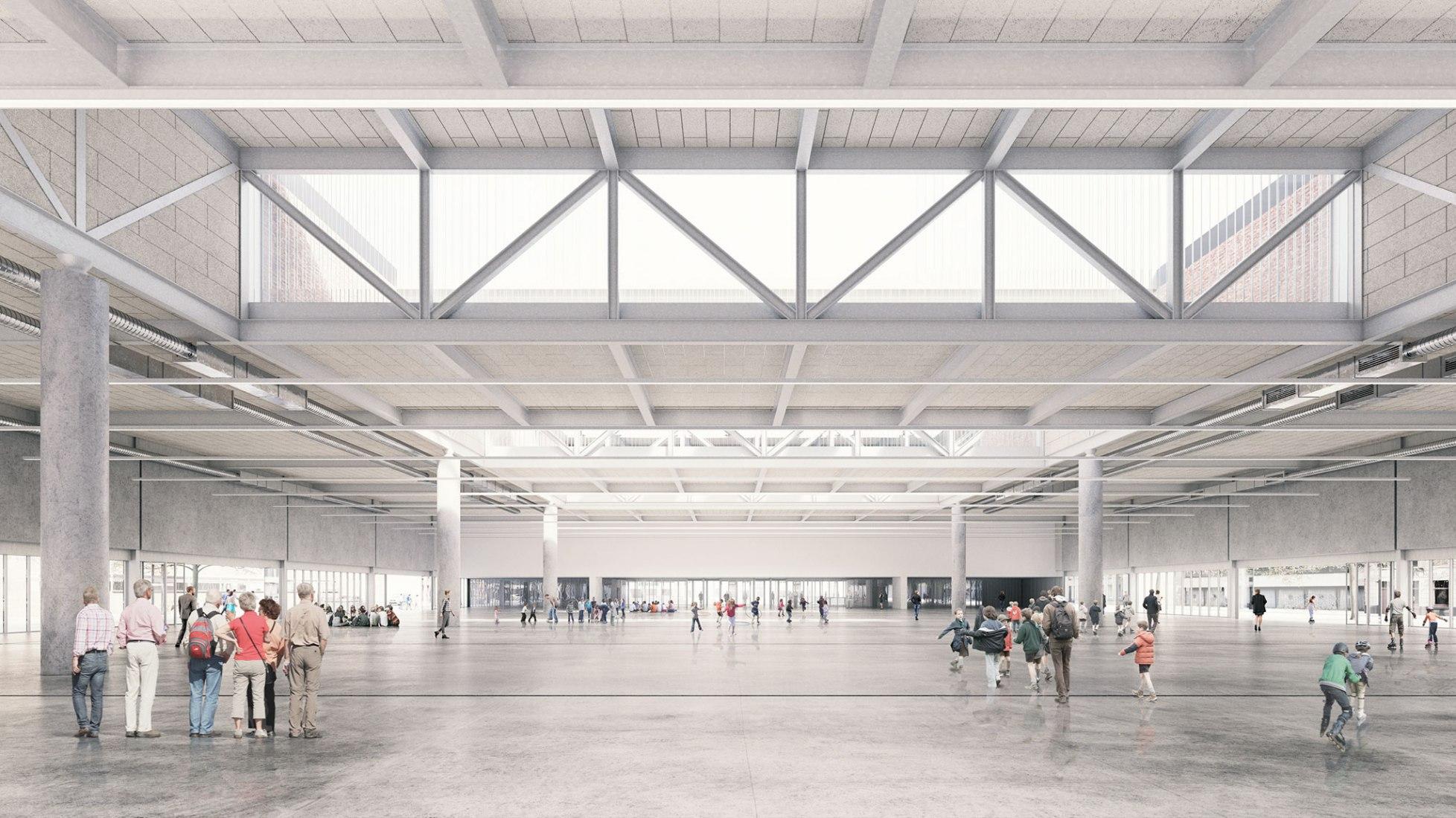 Vista interior. Nuevo Beursplein & Congresgebouw Brugge por Eduardo Souto de Moura en colaboración con Meta Architectuurbureau. Imagen © infunctievan