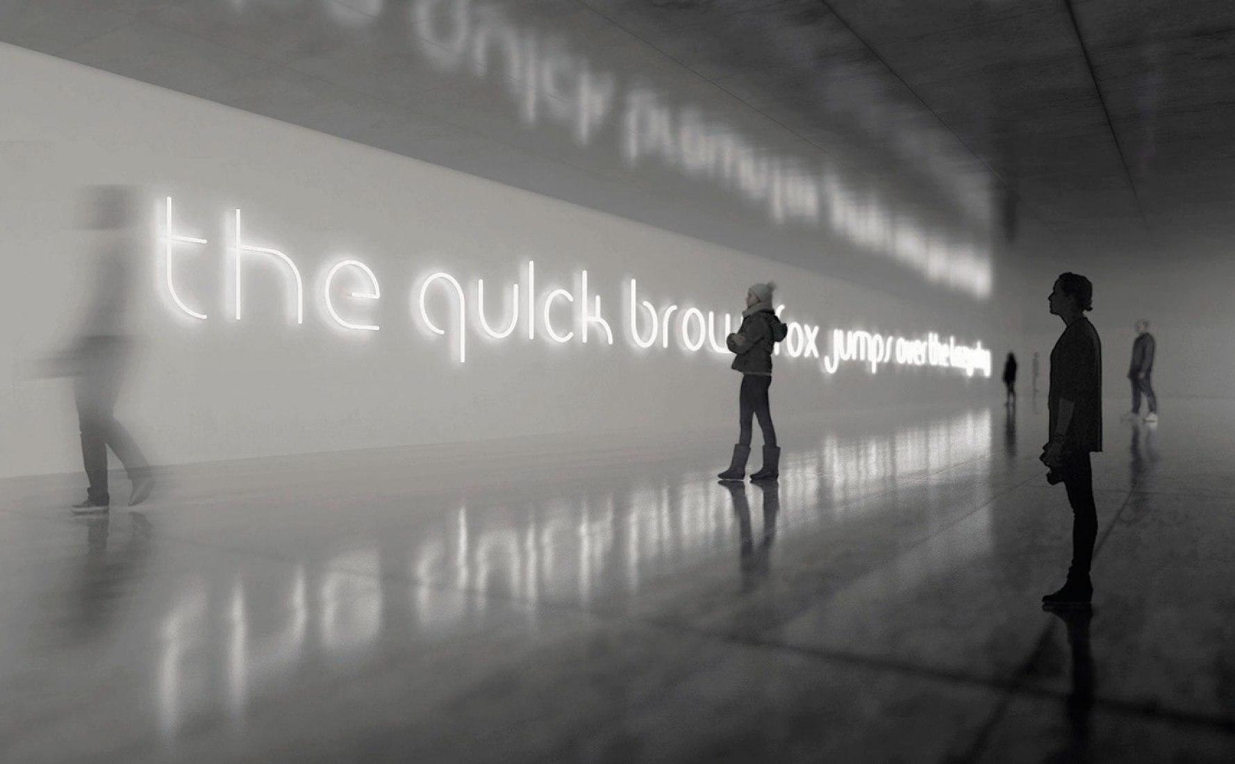 'Alphabet of Light' en el Salone Del Mobile 2016. Fotografía cortesía de Artemide.