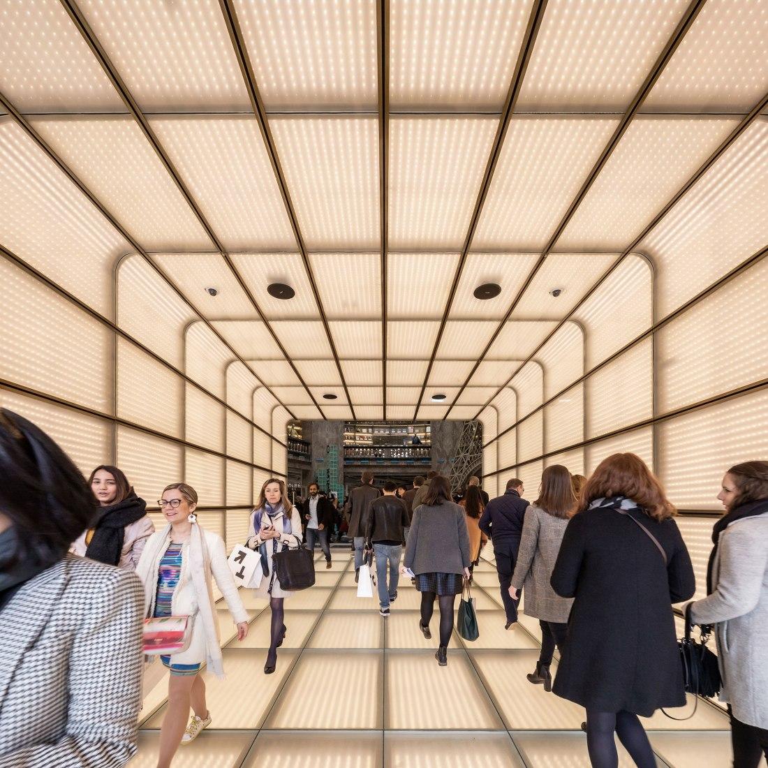 Galeries Lafayette Champs Elysées por BIG. Fotografía por Salem Mostefaoui.