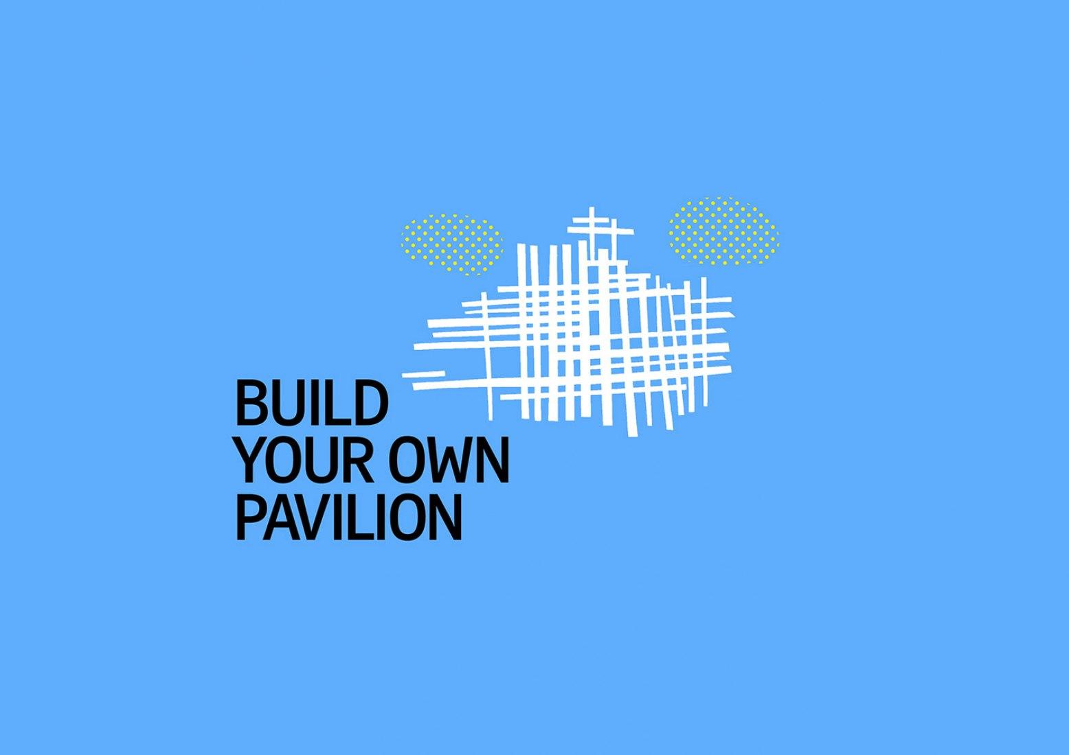 Poster. Program: Build Your Own Pavilion. The Serpentine Pavilion by Bjarke Ingels.