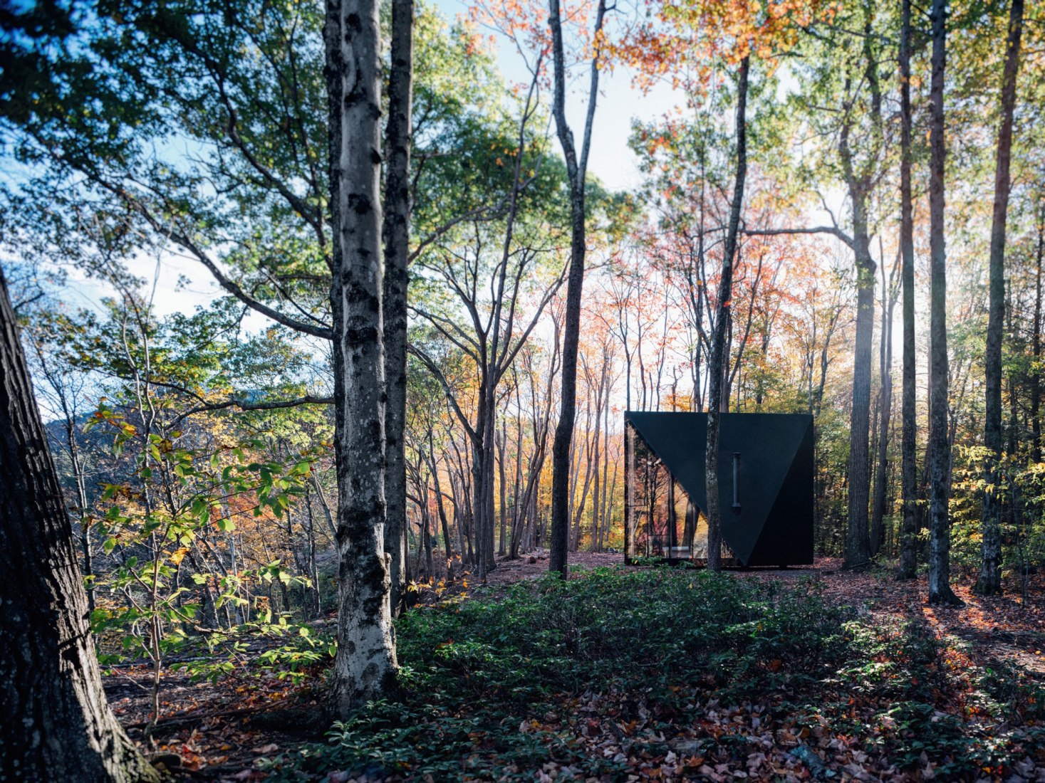 The first build of the A45 house in upstate New York. Image by Matthew Carbone