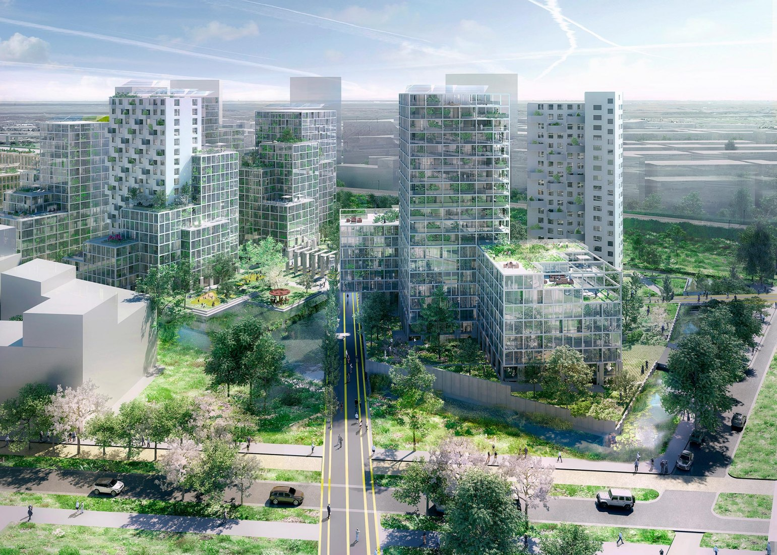 Overview. Masterplan for the Bajes Kwartier by OMA. Image by Robota, Courtesy of OMA