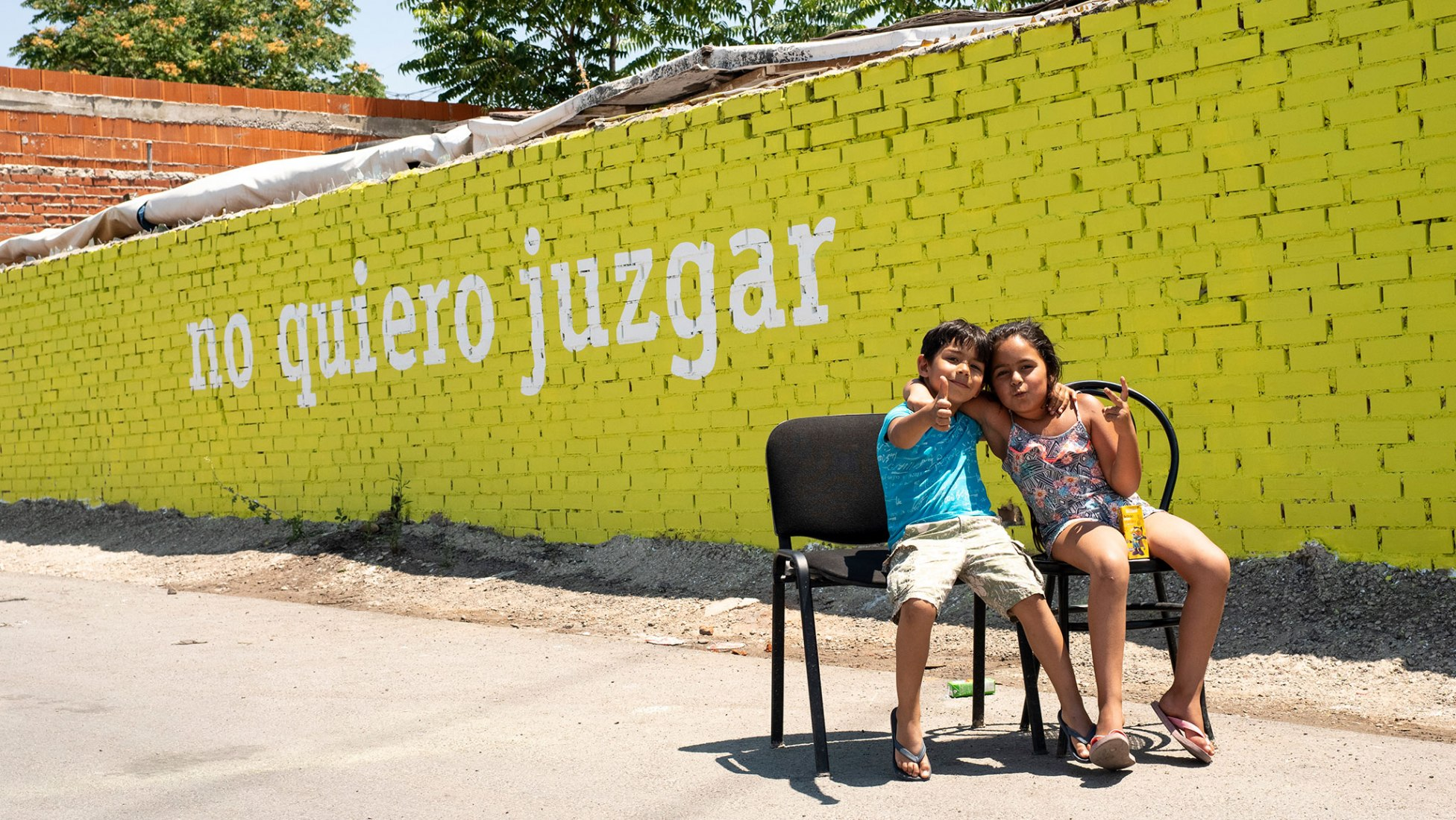 Intervención de Boa Mistura en La Cañada Real Galiana. Fotografía cortesía de Boa Mistura.
