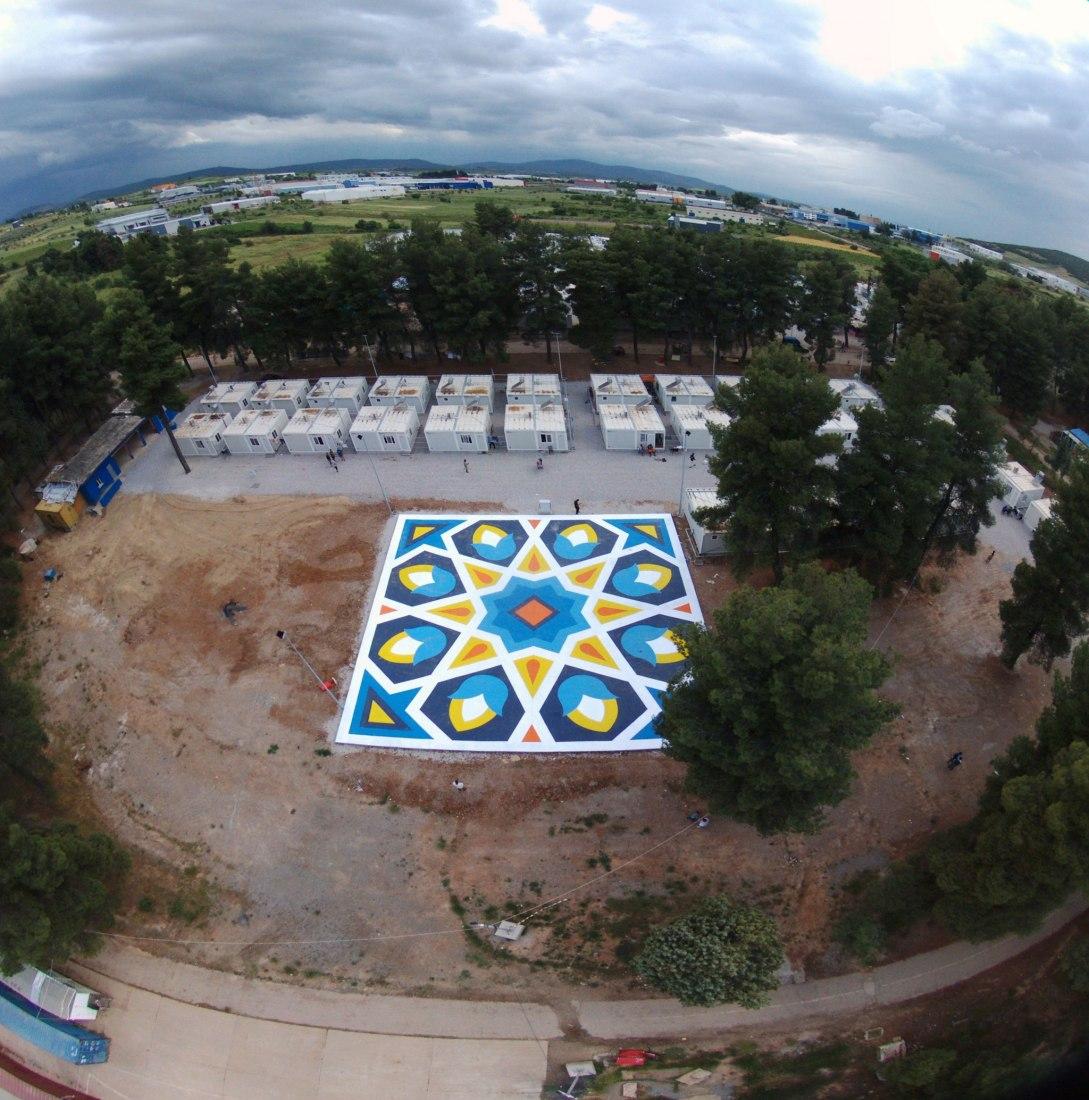 Aerial view. An Oasis for Ritsona by Boa Mistura. Courtesy of Boa mistura
