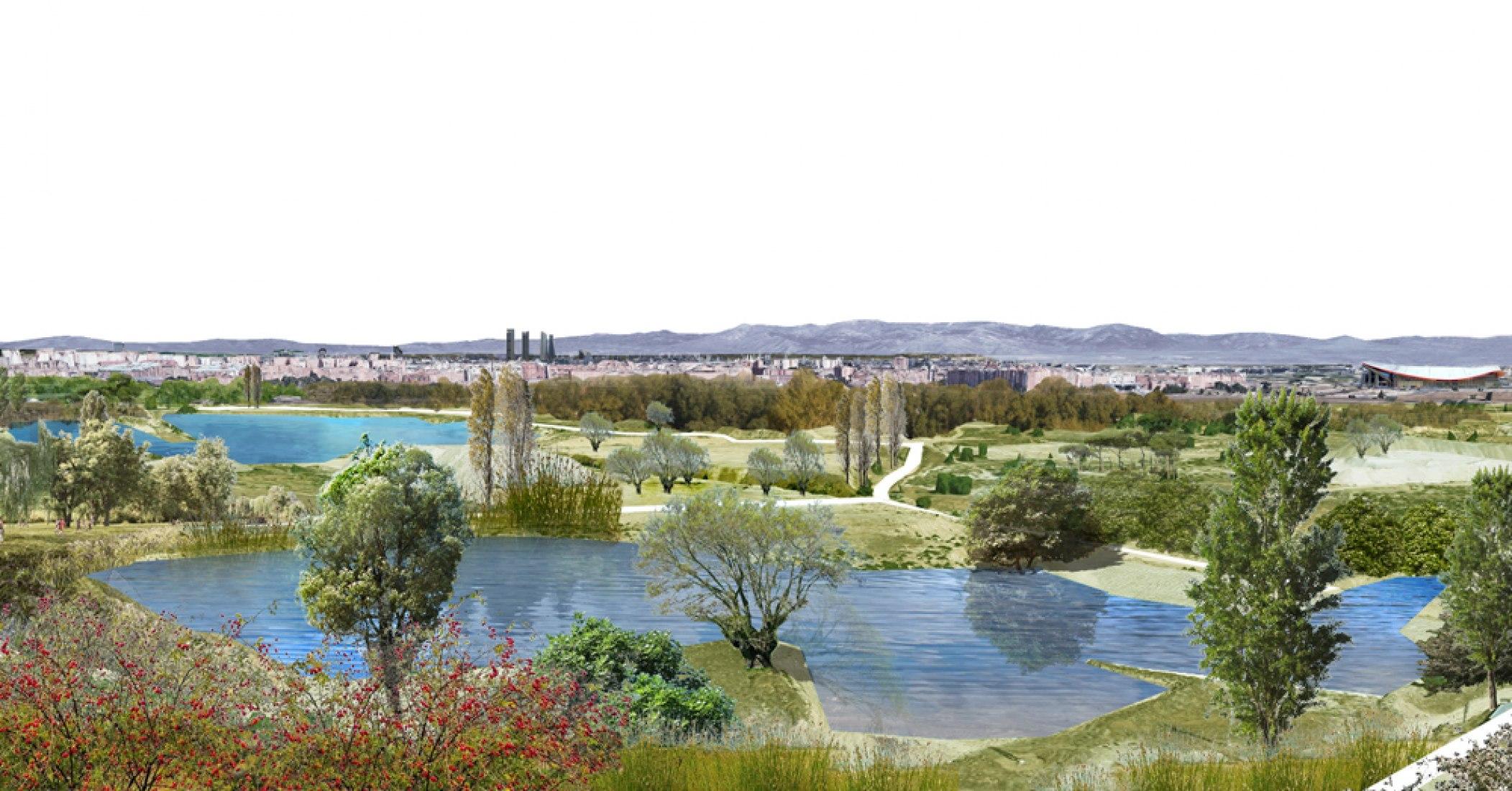 Lote 2 - Efecto mariposa. Ganadores del concurso de ideas para el Bosque Metropolitano de Madrid. Imagen cortesía de Ayuntamiento de Madrid