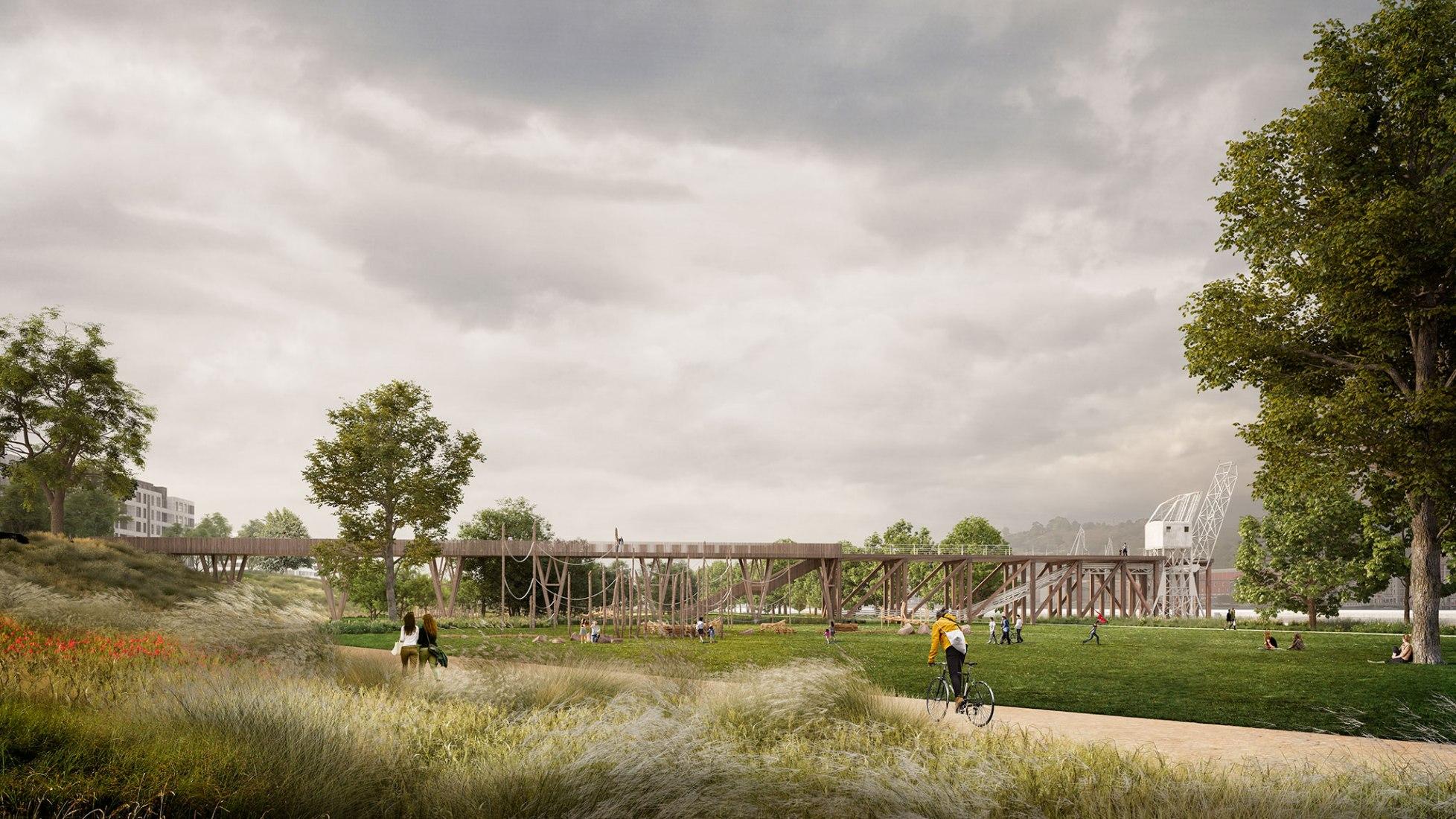 El jardín en movimiento por Burgos y Garrido Arquitectos. Imagen cortesía de Burgos y Garrido Arquitectos