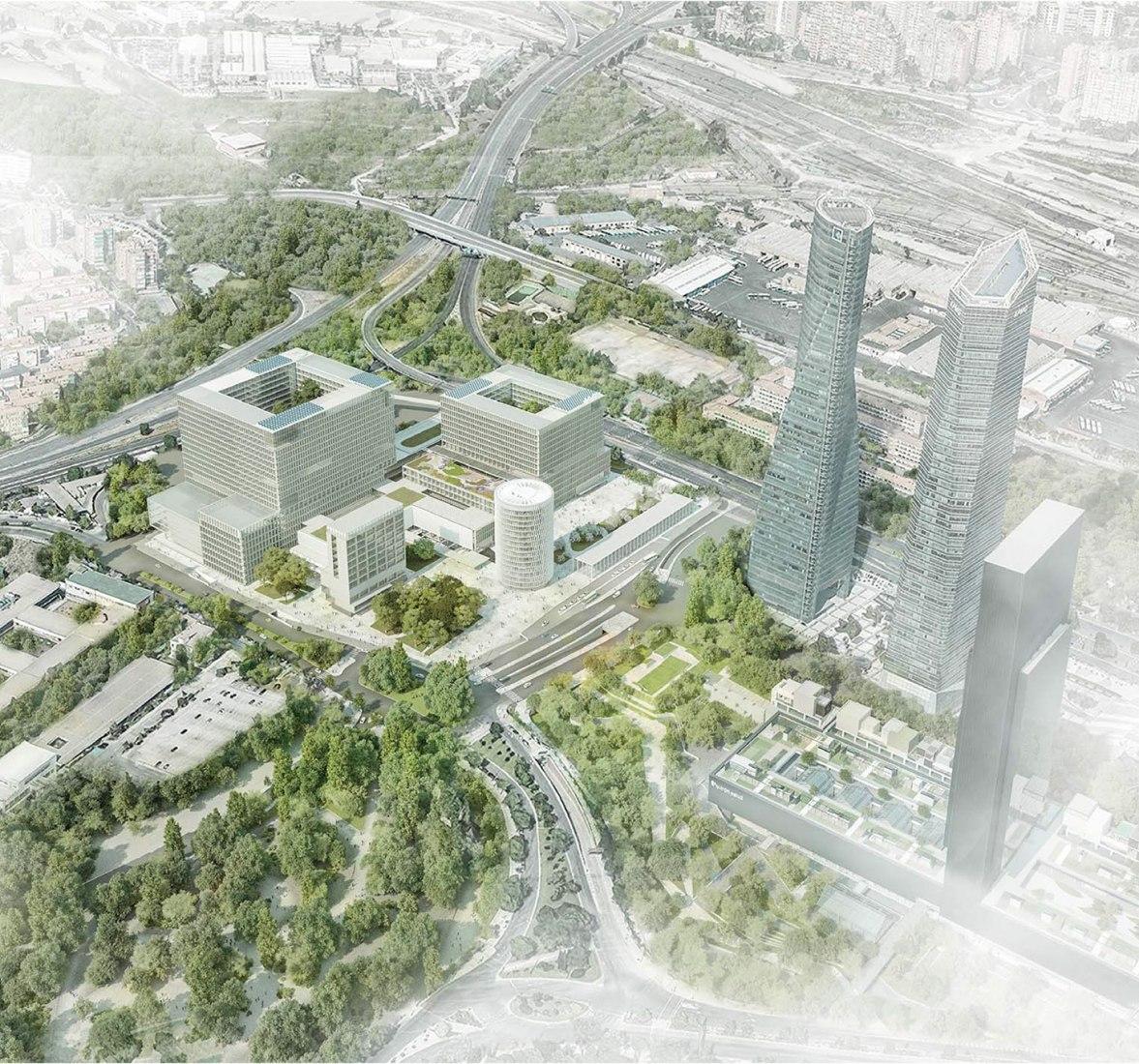 Overview. Campo de Retamas winner of the New Hospital of La Paz by Burgos y Garrido