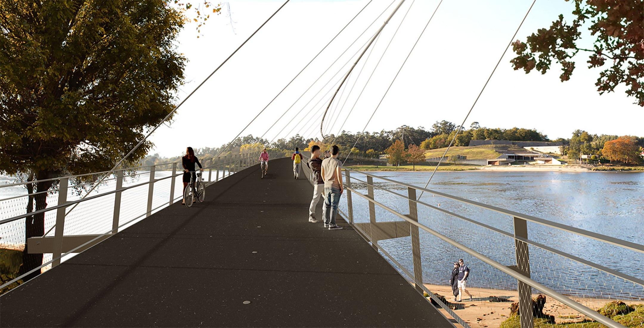 Rendering. Bridge over the Miño by Burgos & Garrido Arquitectos