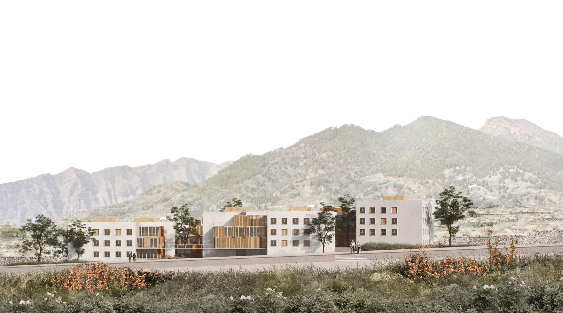 Inspiración en el paisaje. Residencia Insular de Mayores y centro de día por Burgos y Garrido. Visualización por Supernova Visual