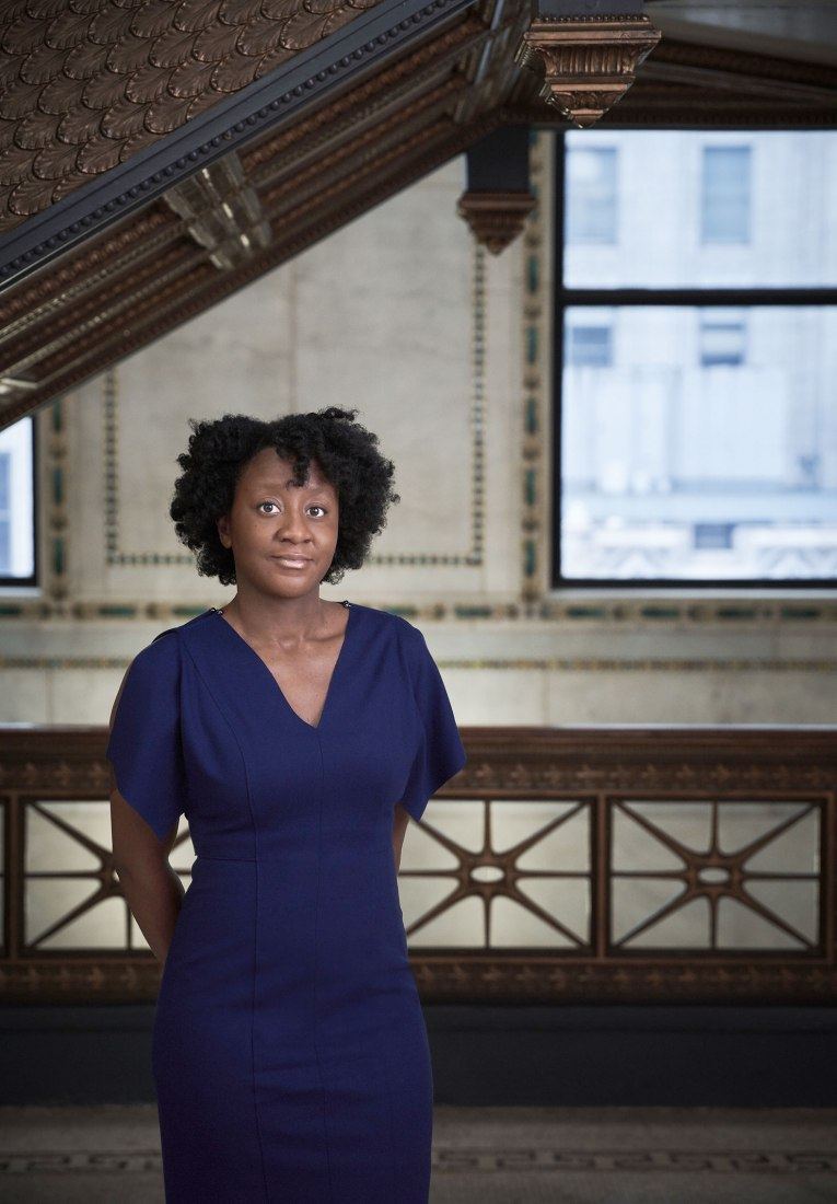 Yesomi Umolu has been named the artistic director of the 2019 Chicago Architecture Biennial. Photograph by Andrew Bruah / Chicago Architecture Biennial
