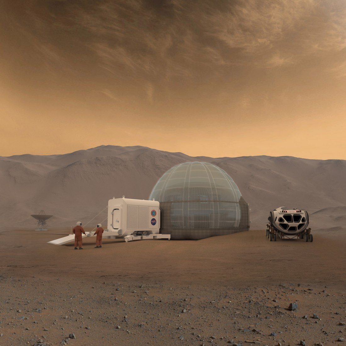 Rendering of the Mars Ice Home concept. Image courtesy of NASA/Clouds AO/SEArch